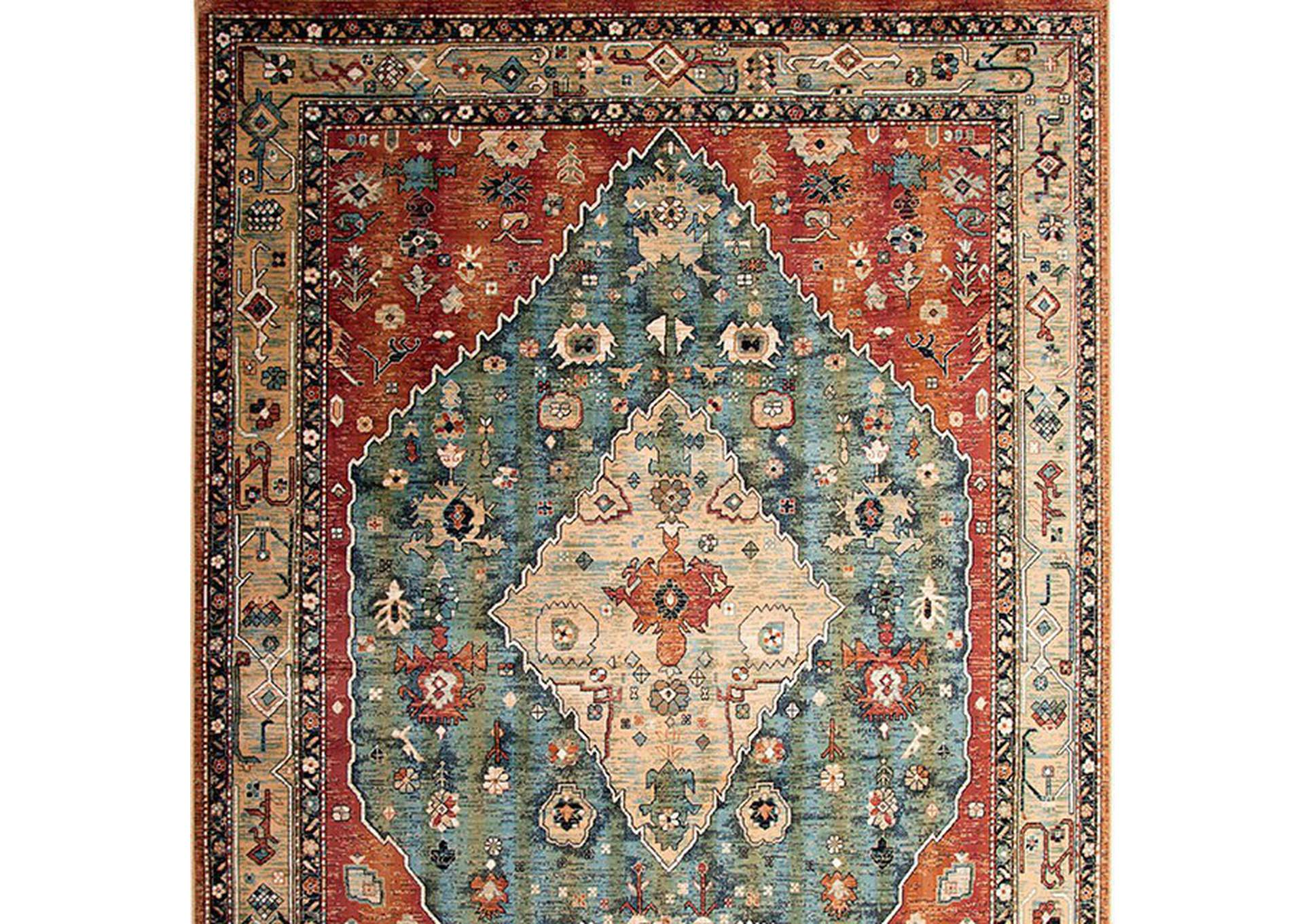 Mortsel Red Area Rug,Furniture of America