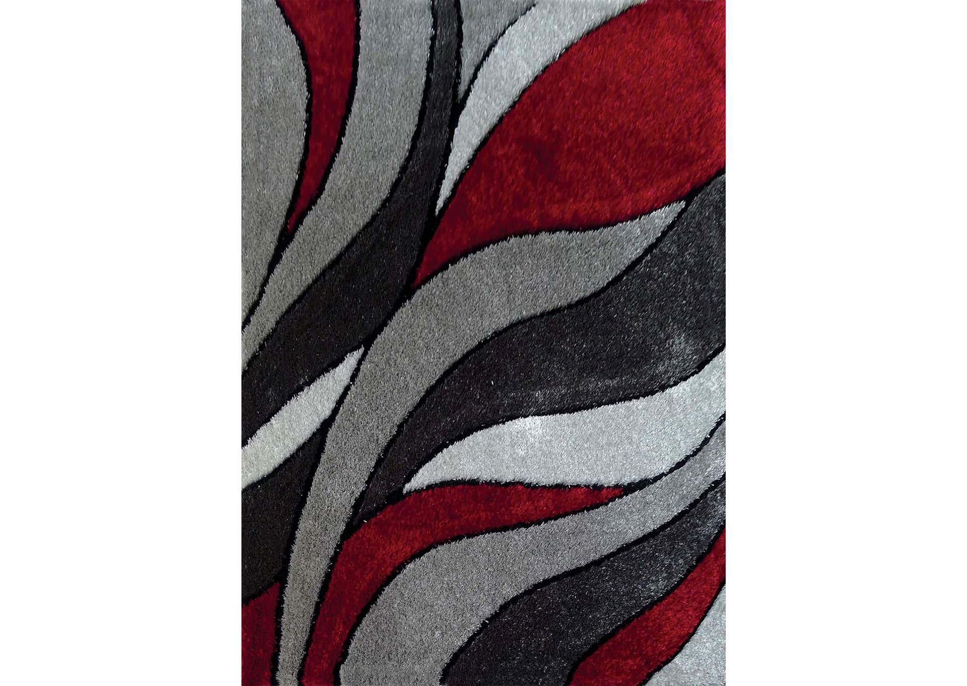 Caledon Gray/Red Area Rug,Furniture of America