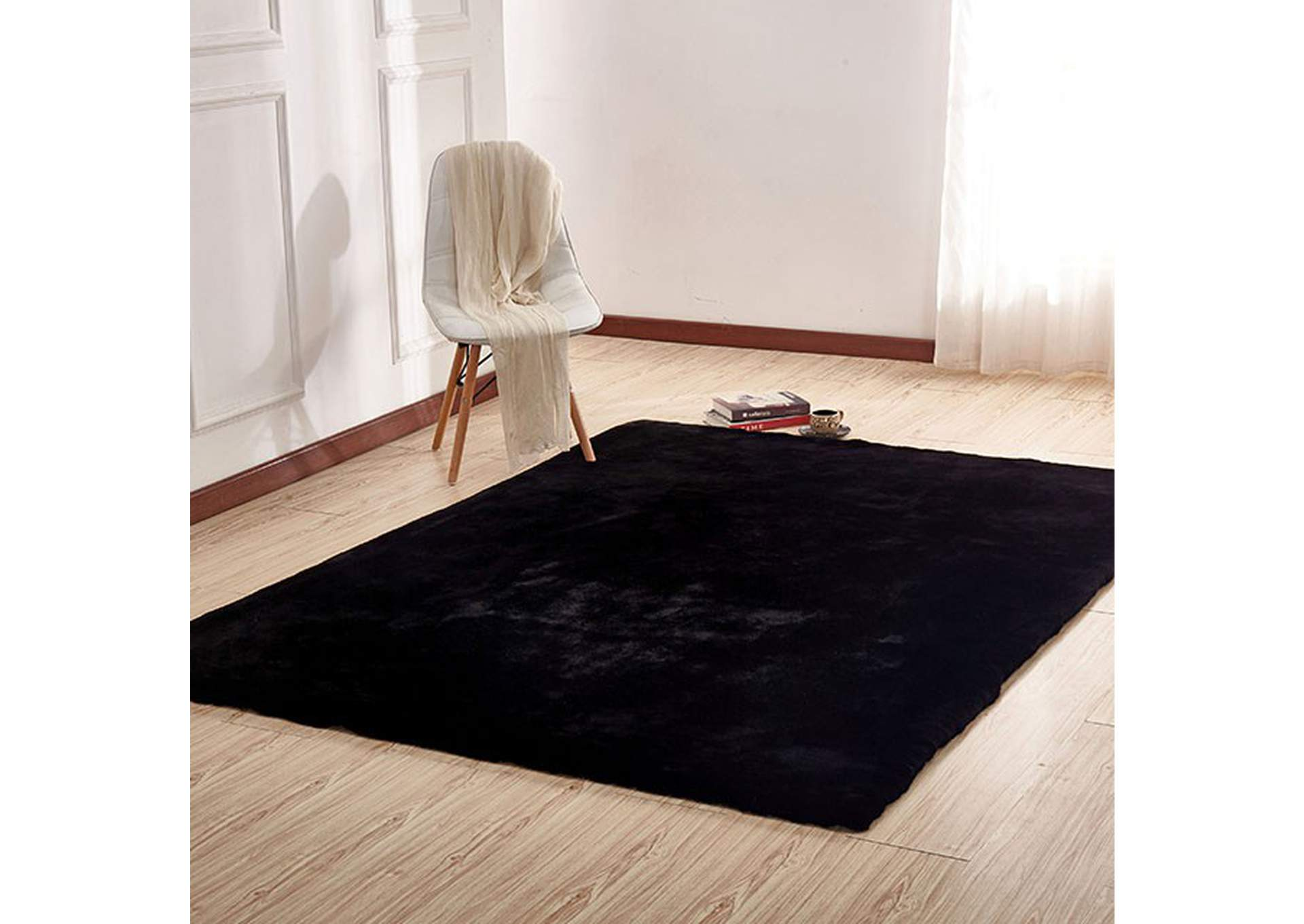 Caparica Black Area Rug,Furniture of America