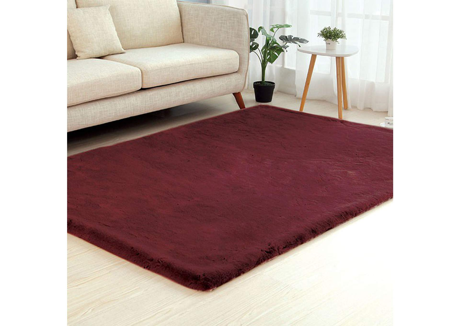 Caparica Wine Area Rug,Furniture of America
