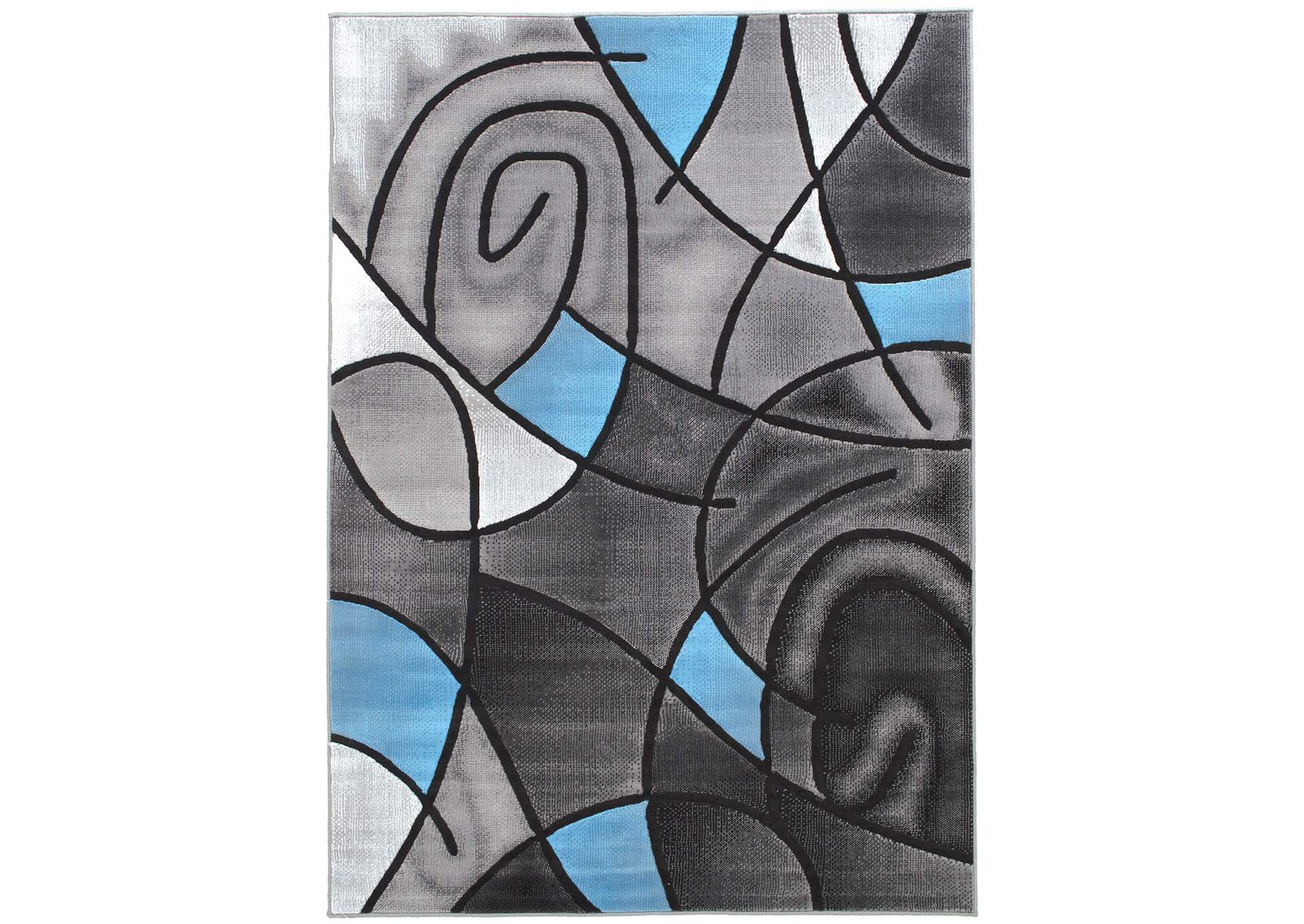 Sivas Charcoal Blue Area Rug,Furniture of America