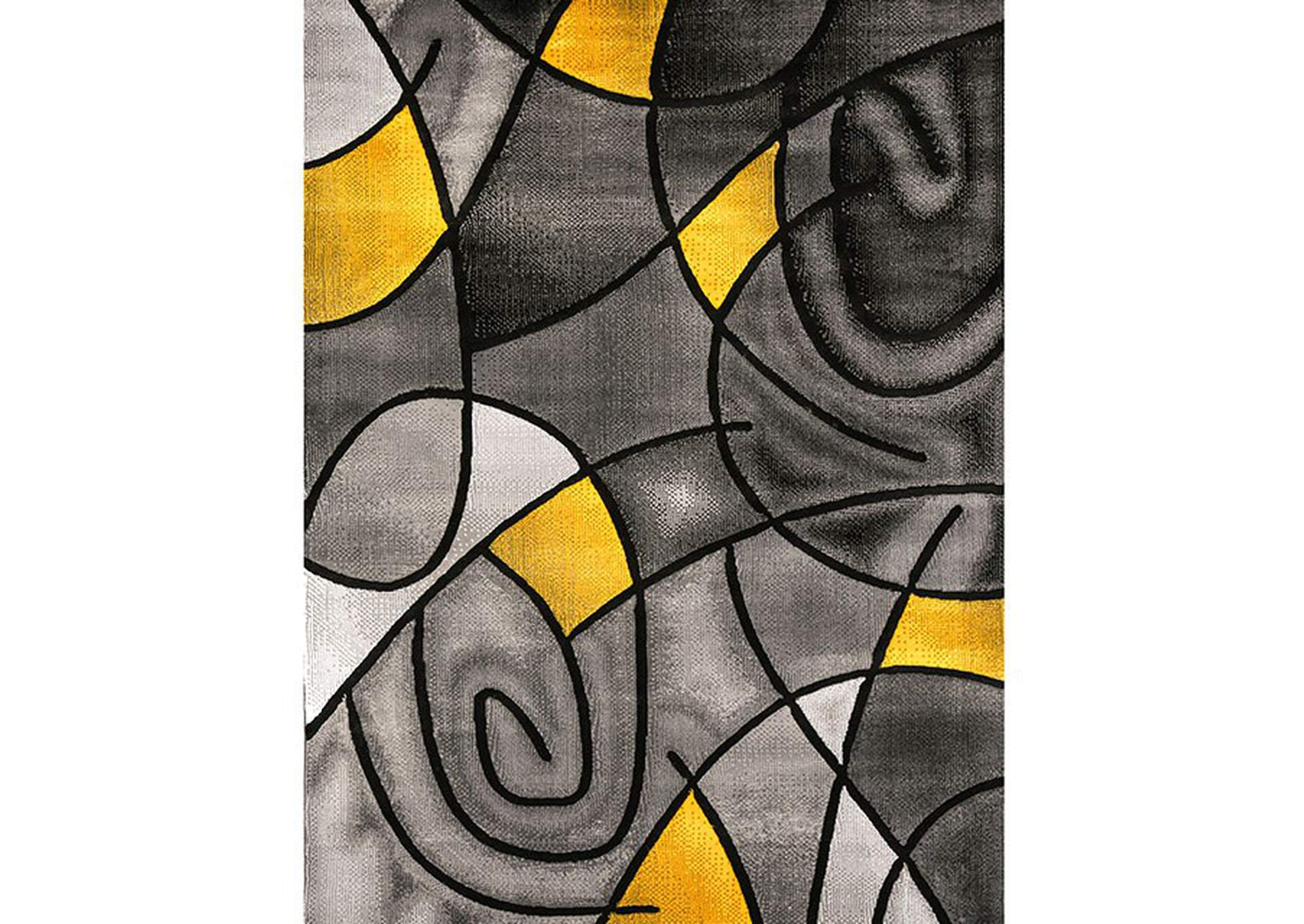 Sivas Charcoal Yellow Area Rug,Furniture of America
