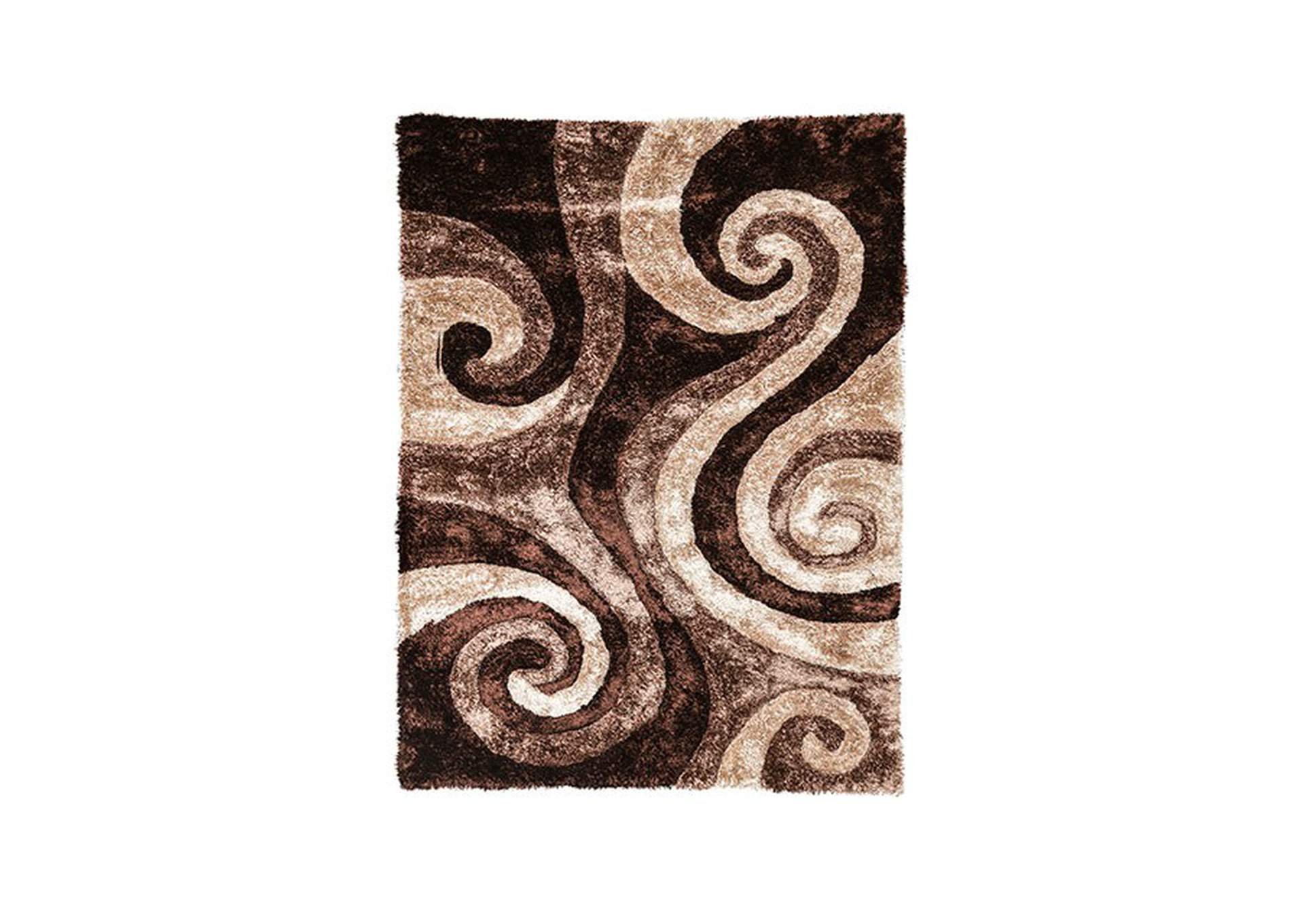 Fermont Brown Beige Area Rug,Furniture of America