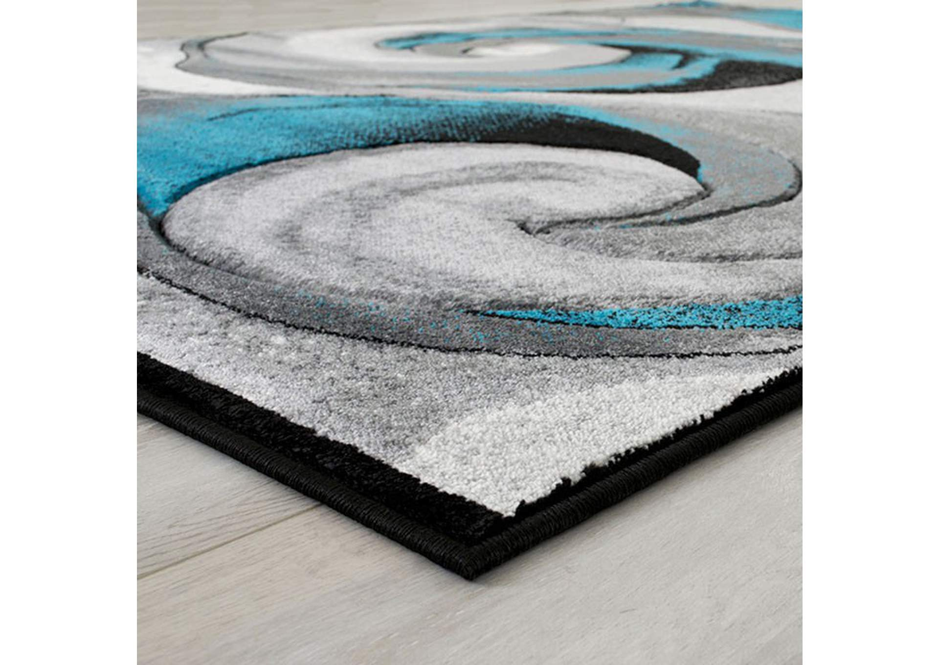 Niksar Turquoise Area Rug,Furniture of America