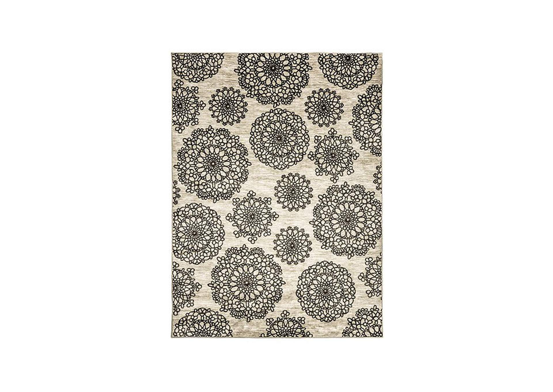 Acanthus Dark Gray Area Rug,Furniture of America