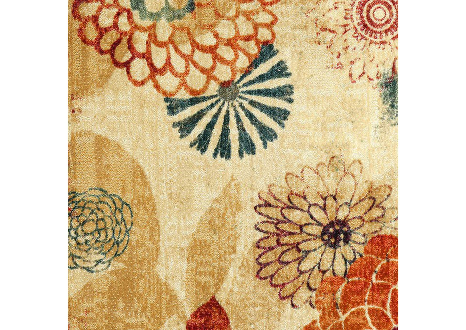 Greenville Floral Multicolor Area Rug,Furniture of America