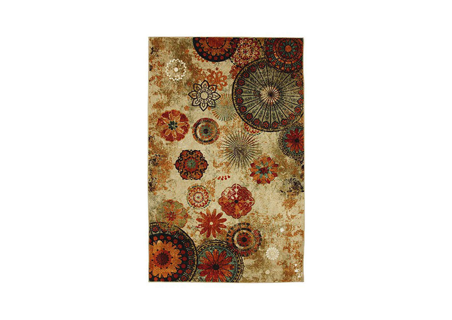 Greenville Beige/Multicolor Area Rug,Furniture of America