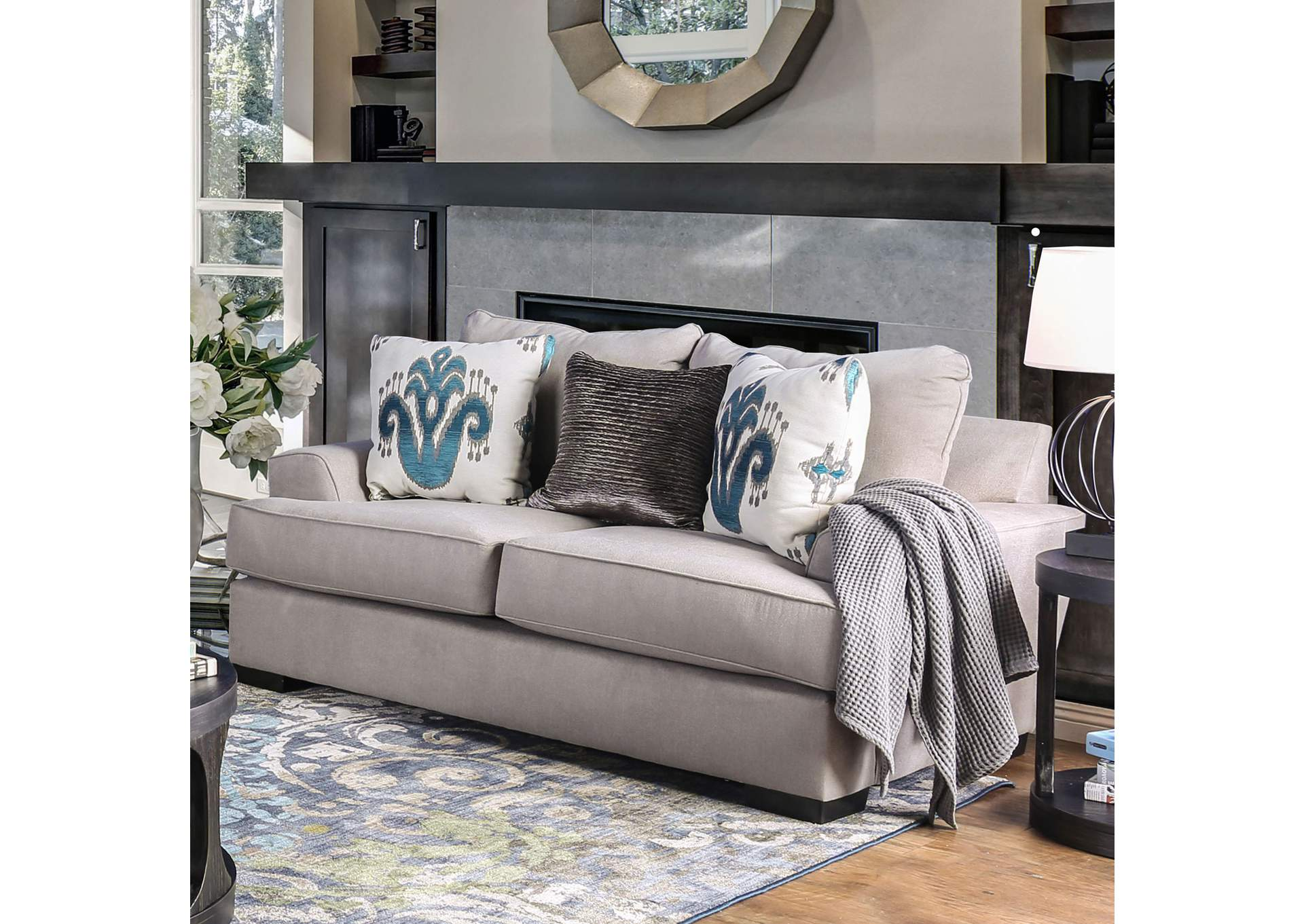 Renesmee Gray Loveseat,Furniture of America
