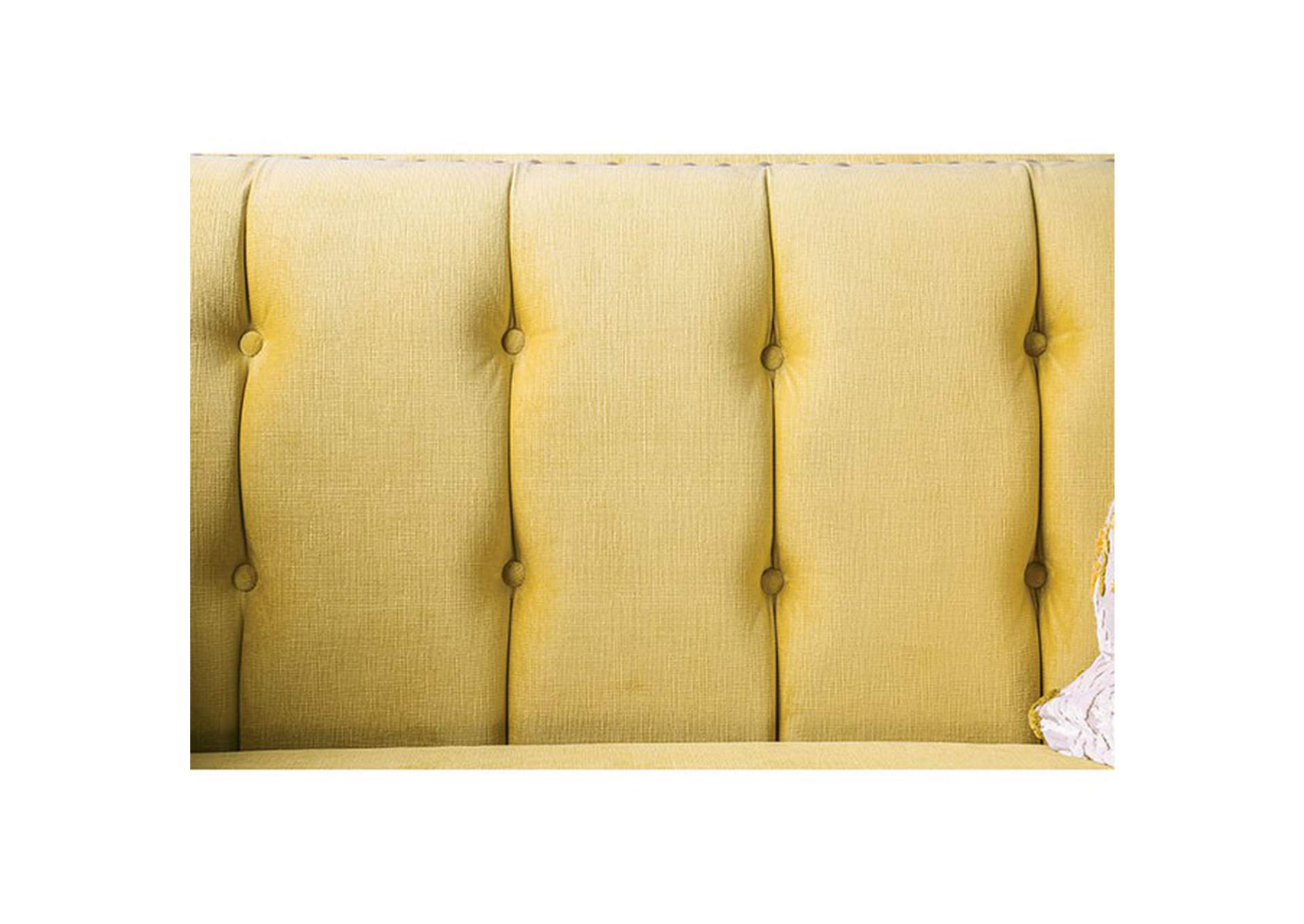 Tegan Royal Yellow Loveseat,Furniture of America