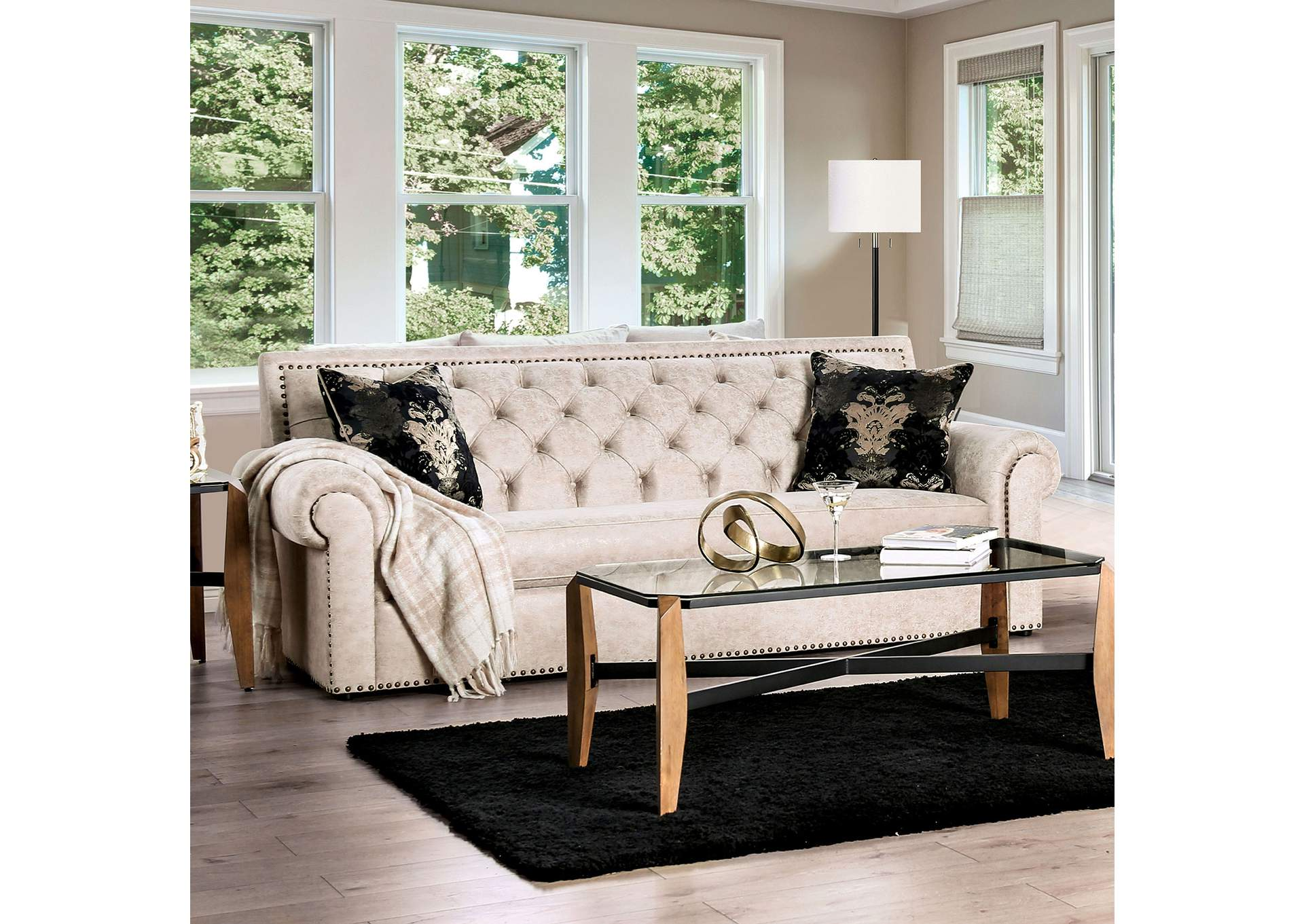 Parshall Beige Sofa,Furniture of America