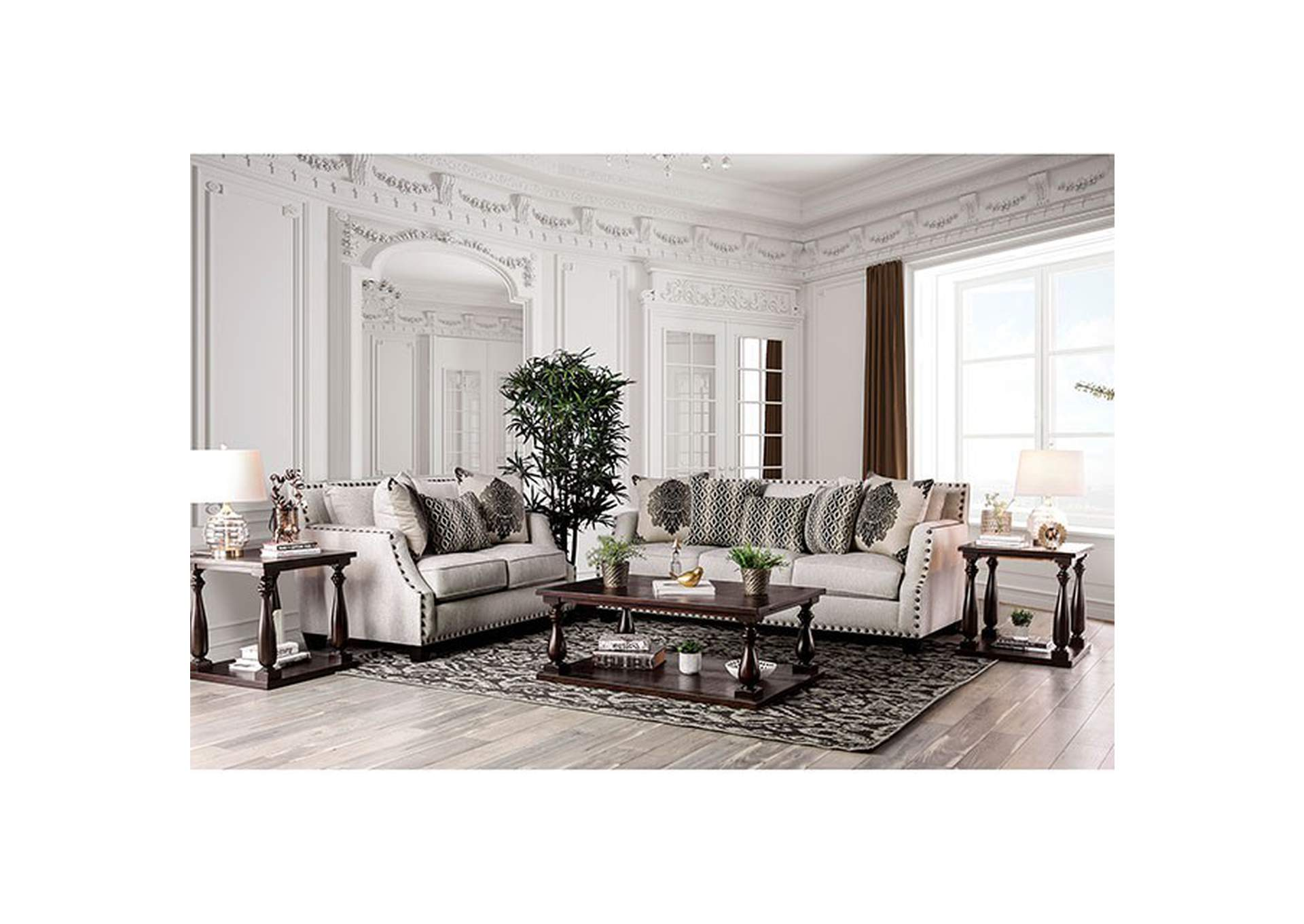 Cornelia Beige Sofa,Furniture of America
