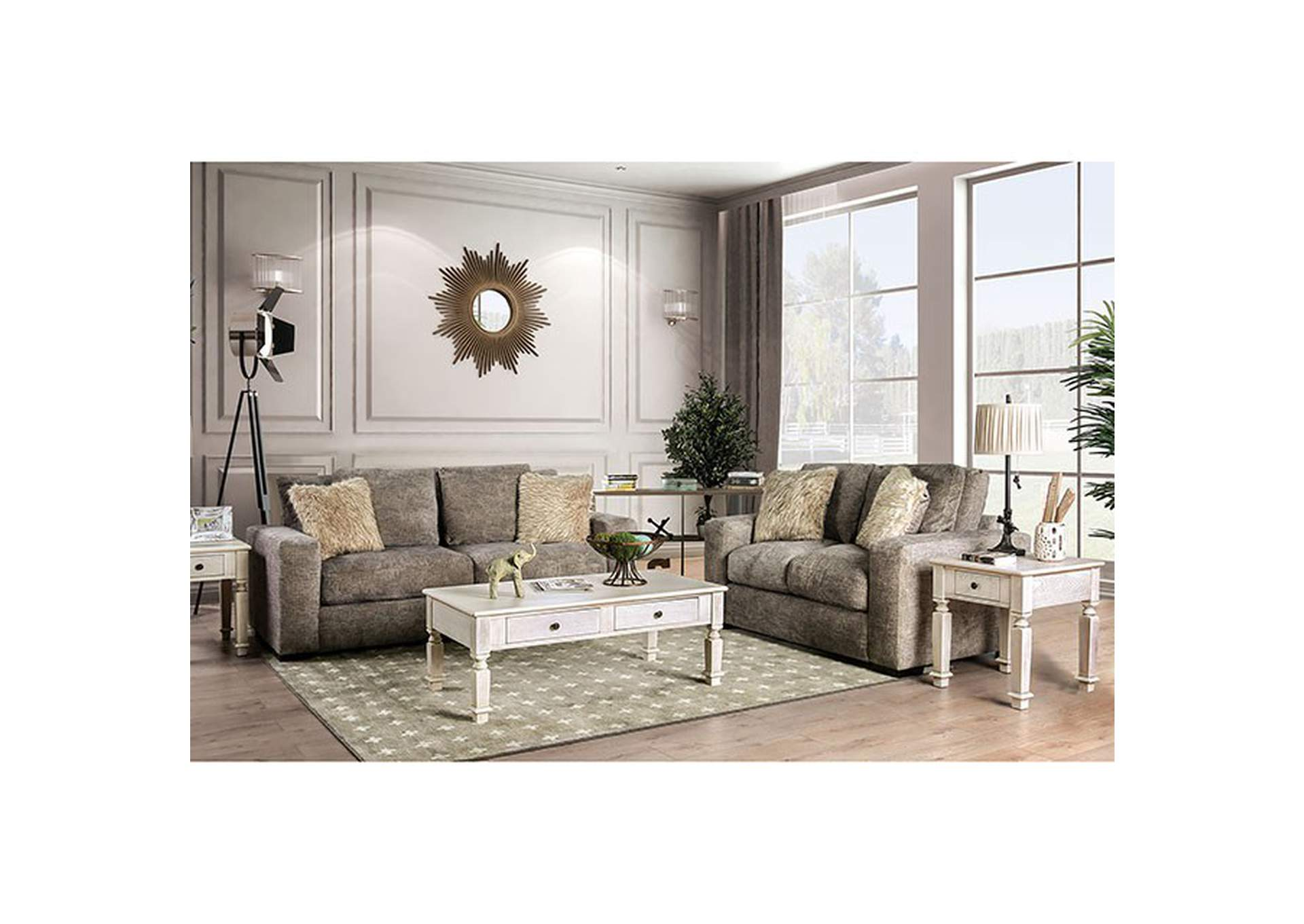 Crane Brown Loveseat,Furniture of America