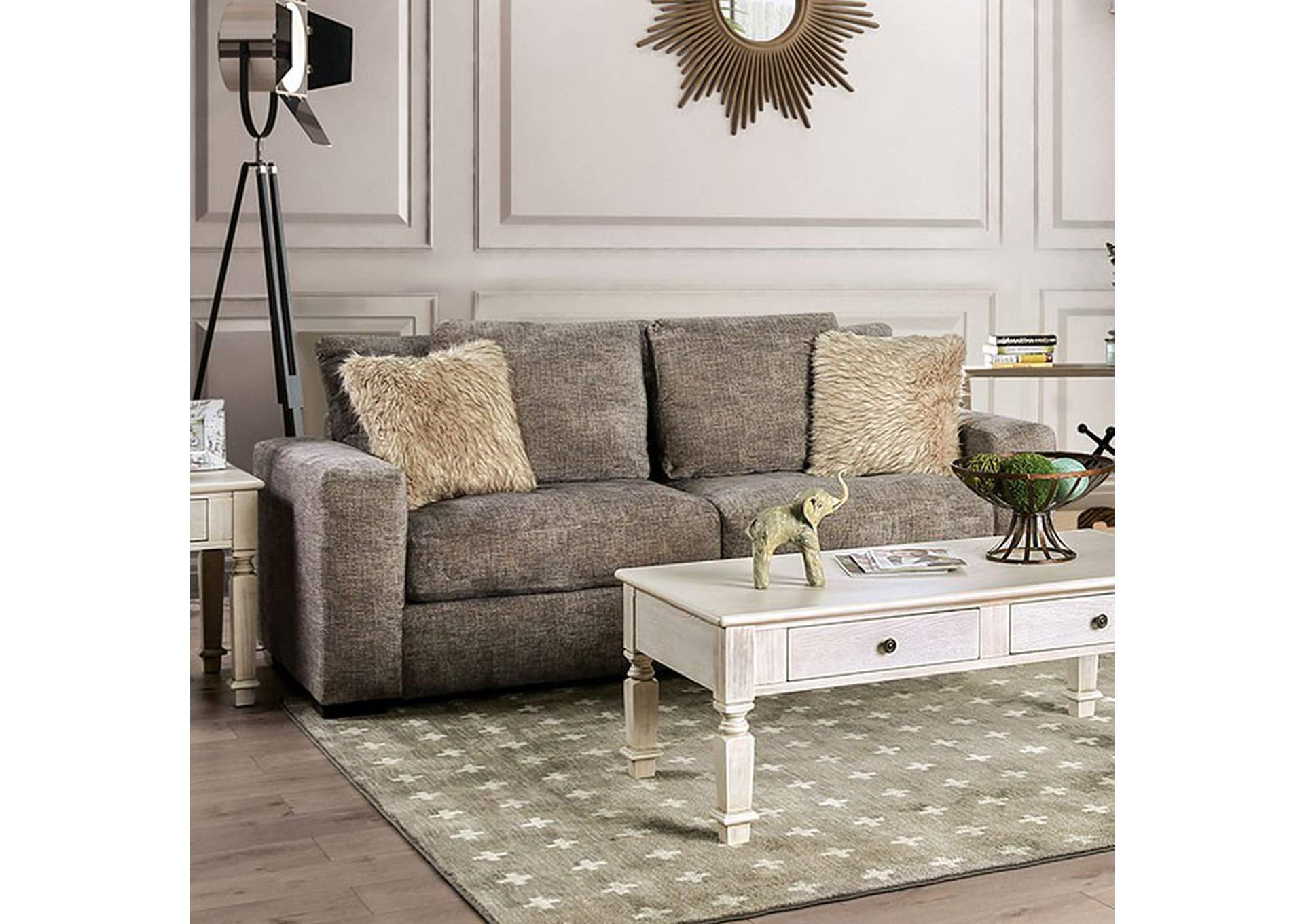 Crane Brown Sofa,Furniture of America