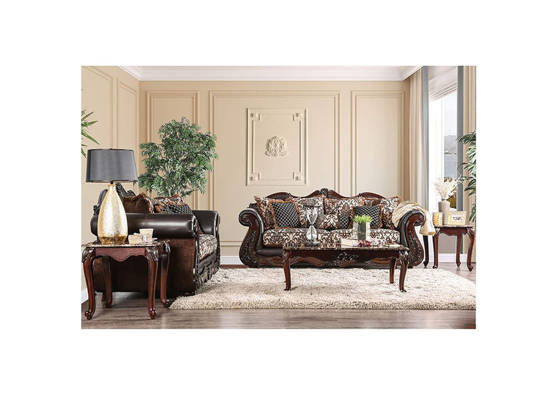 Jamael Brown Sofa,Furniture of America
