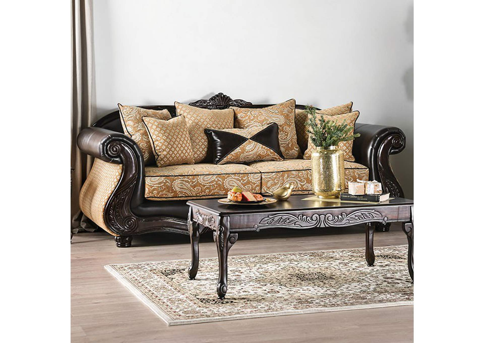 Aislynn Gold Sofa,Furniture of America