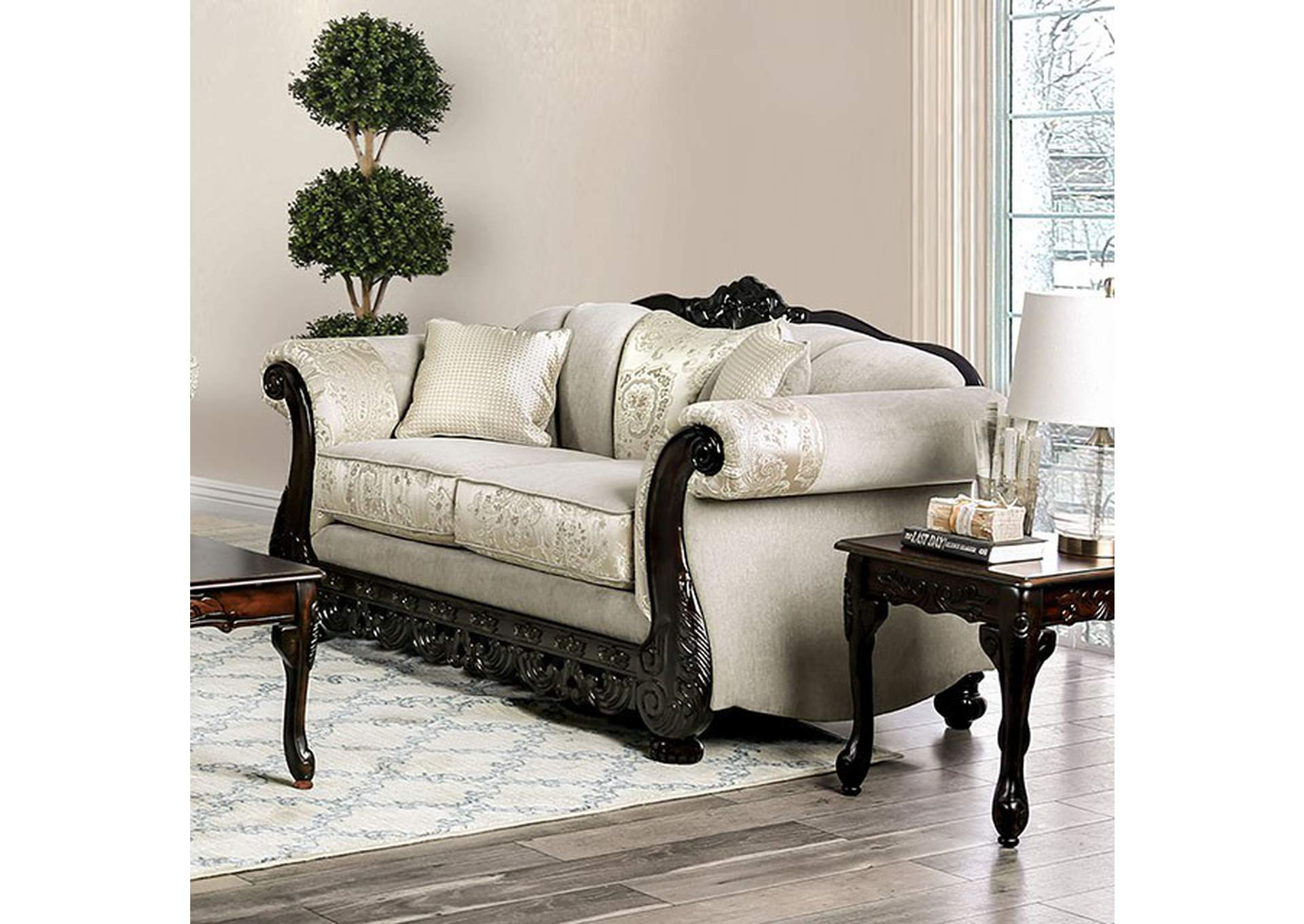 Newdale Ivory Loveseat,Furniture of America