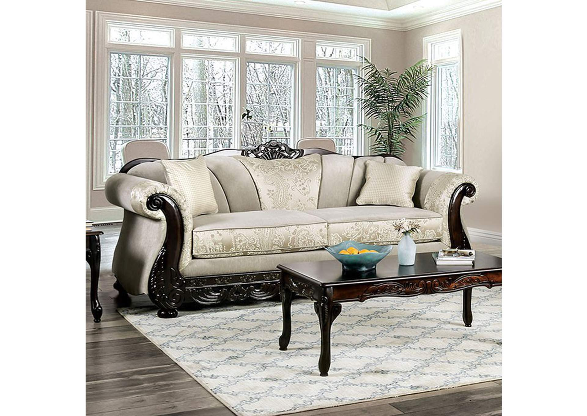 Newdale Ivory Sofa,Furniture of America