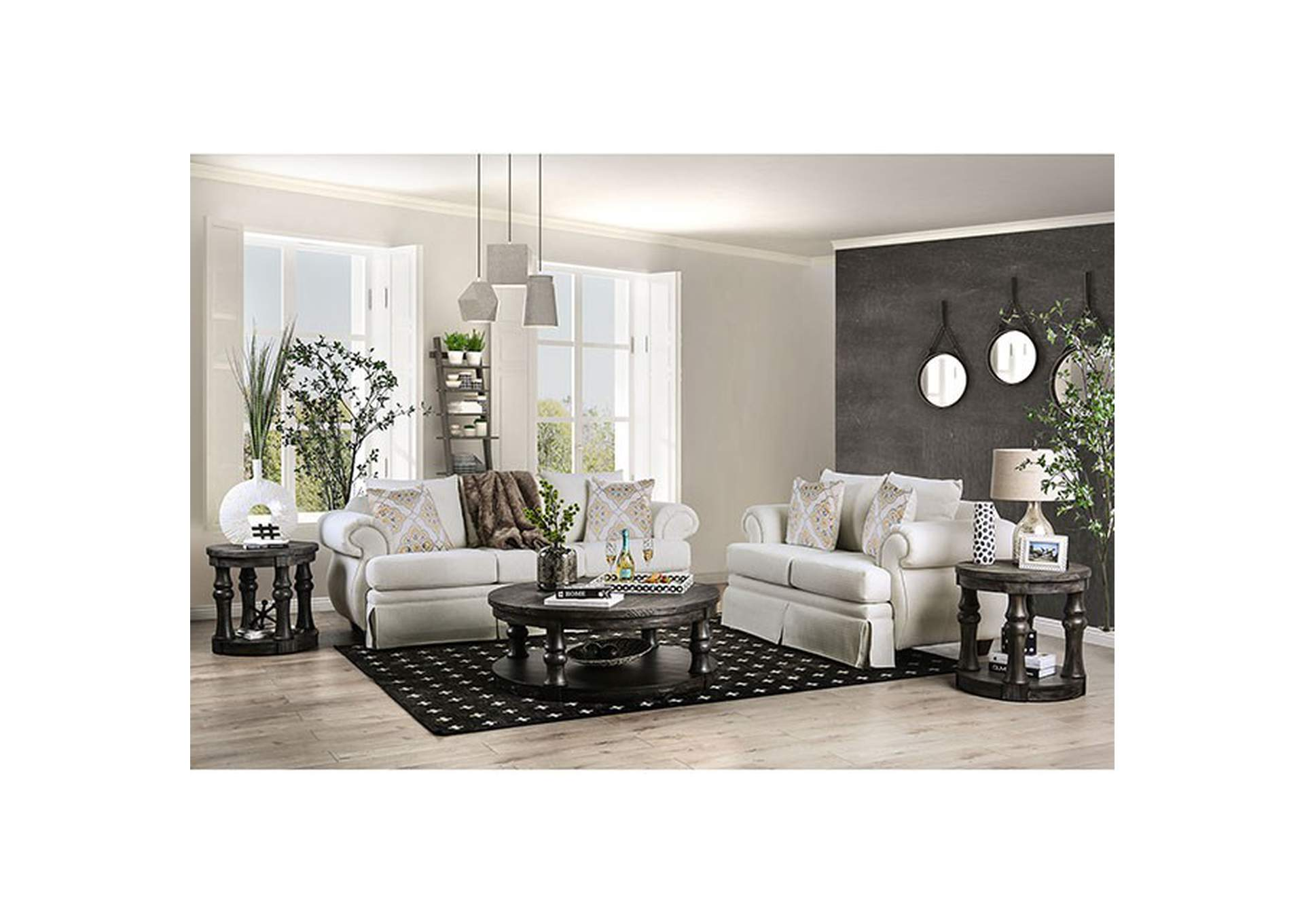 Bergen Ivory Loveseat,Furniture of America