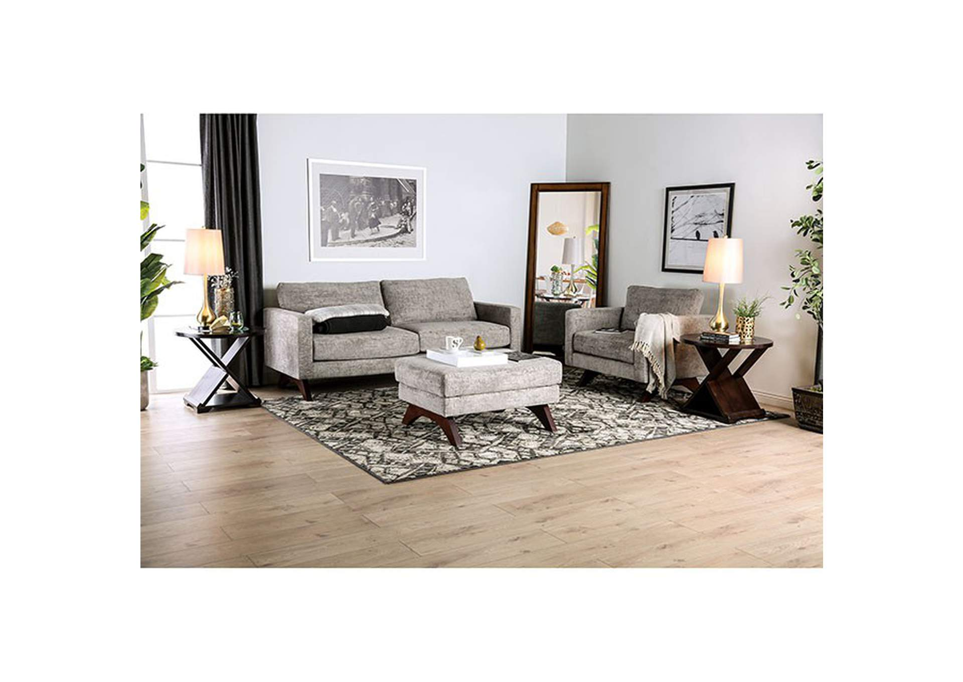 Harlech Gray Sofa,Furniture of America