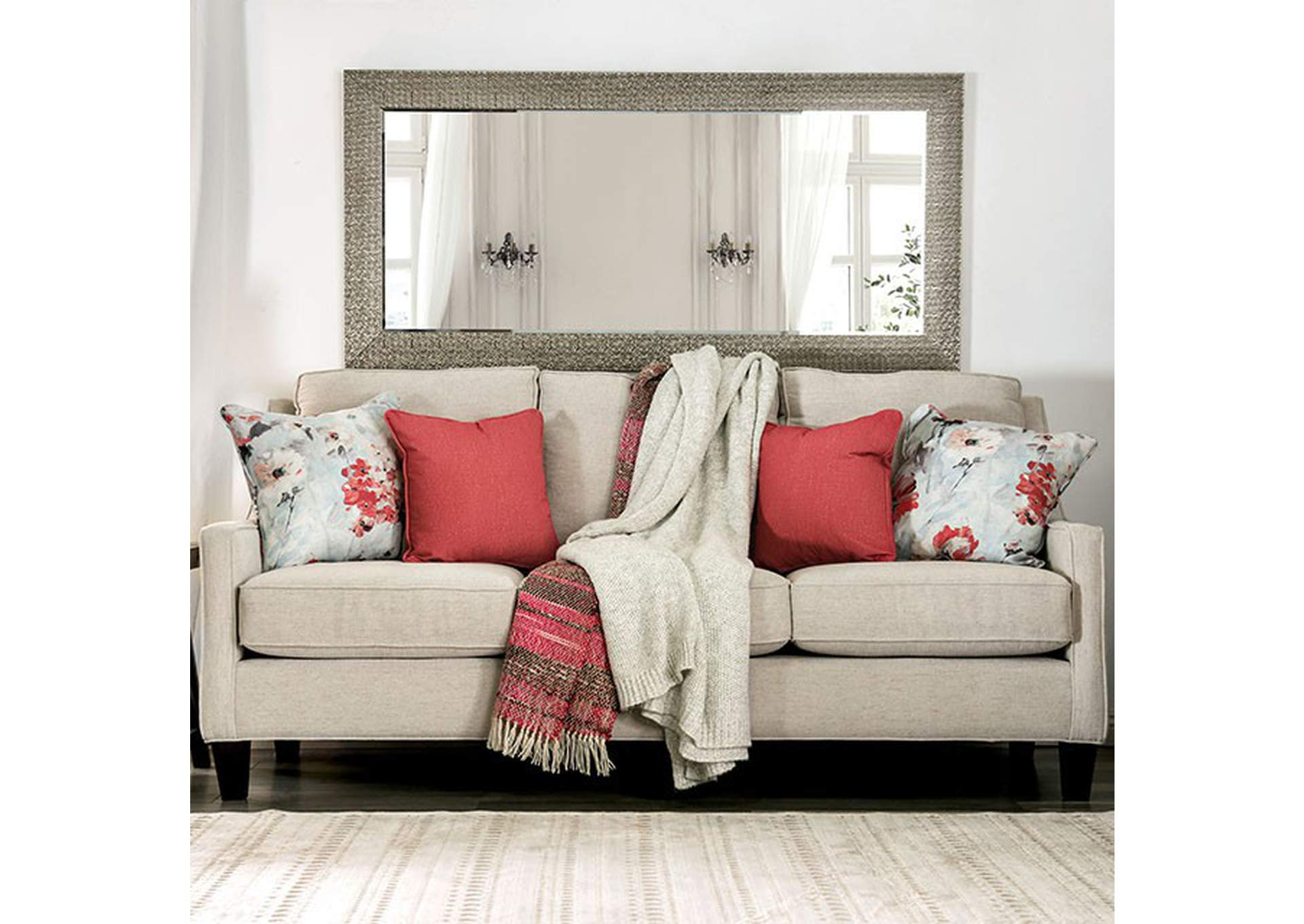 Nadene Ivory Sofa,Furniture of America