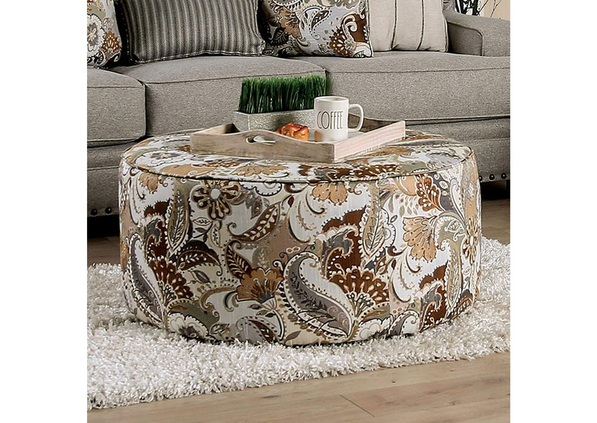 Begley Ottoman,Furniture of America