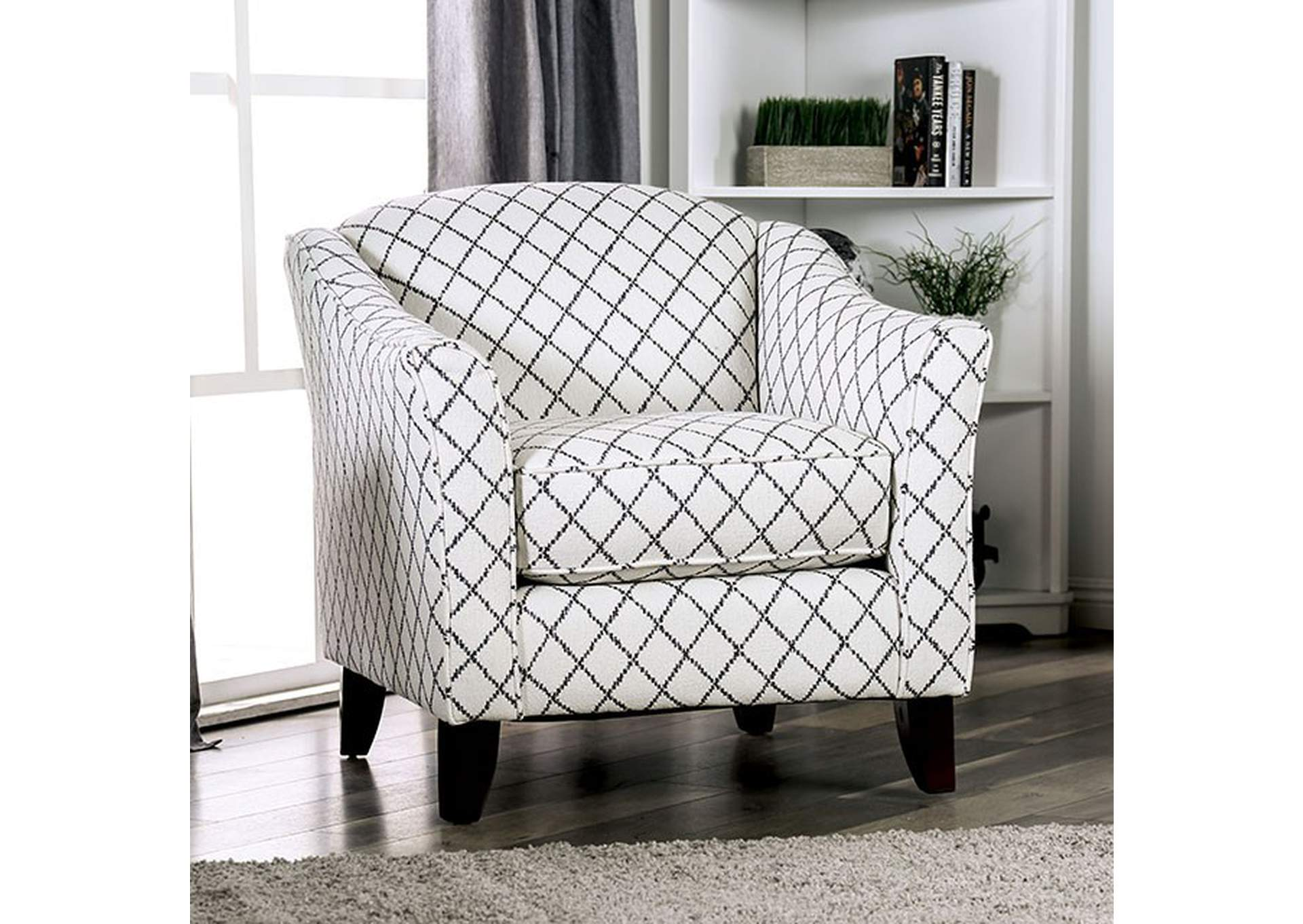 Verne Diamond Chair,Furniture of America