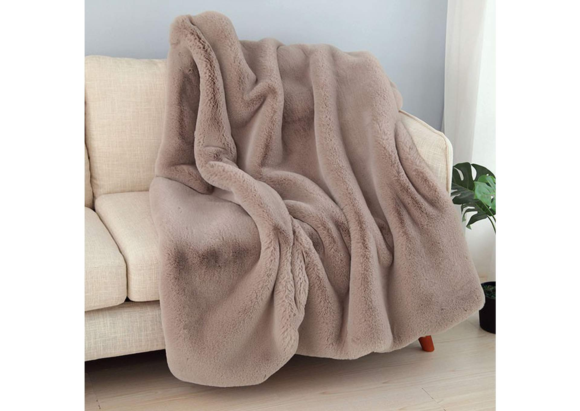 Caparica Blush Throw Blanket,Furniture of America