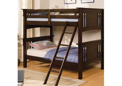 Image for Spring Creek Dark Walnut Twin Bunk Bed w/Dresser and Mirror
