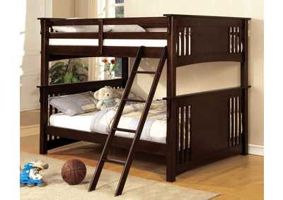 Image for Spring Creek Dark Walnut Full Bunk Bed w/Dresser and Mirror