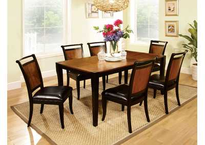 Image for Salida l Black/Acacia Dining Table w/6 Side Chair