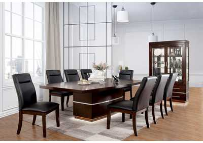 Image for Lawrence Dark Cherry Extension Dining Table w/8 Side Chair