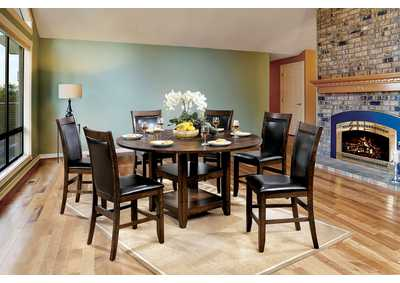 Image for Meagan II Brown Counter Table w/4 Chair