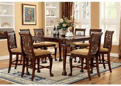Image for Petersburg l Cherry Counter Dining Table w/8 Counter Chair