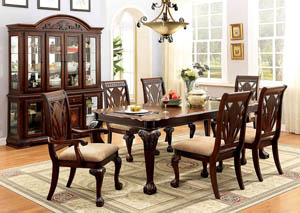 Image for Petersburg l Cherry Extension Dining Table w/4 Side Chair & 2 Arm Chair