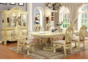 Image for Wyndmere White Dining Table w/4 Side Chair & 2 Arm Chair