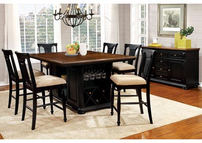 Image for Sabrina Cherry and Black Counter Table w/4 Counter Chair