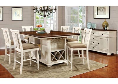 Image for Sabrina Cherry and White Counter Table w/4 Counter Chair