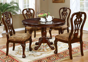 Image for Elana Cherry Dining Table w/2 Arm Chair and 4 Side Chair