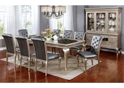 Image for Amina Silver Dining Table w/6 Side Chair