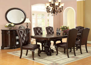 Image for Bellagio Extension Dining Table w/6 Leatherette Side Chair