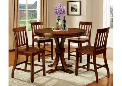 Image for Foster II Dark Oak Counter Table w/4 Counter Chair