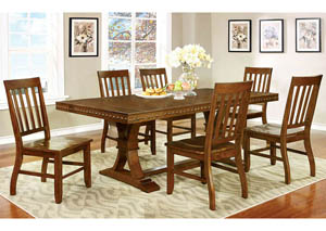 Foster I Dark Oak Extension Dining Table w/6 Side Chair
