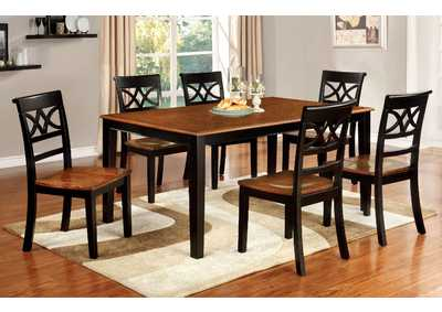 Image for Torrington Black/Cherry Extension Dining Table w/4 Side Chair