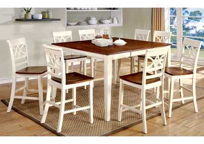 Image for Torrington II White Counter Table w/6 Counter Chair