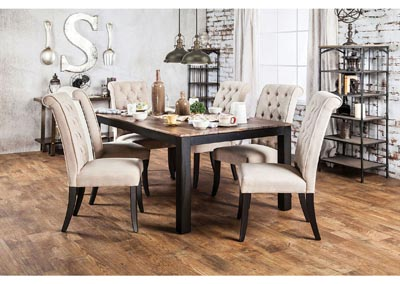 Image for Marshall Rustic Oak Dining Table w/6 Side Chair