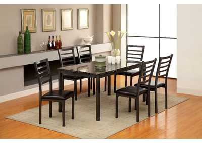Image for Colman Black Dining Table w/4 Side Chair