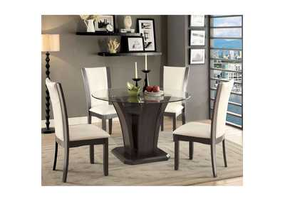 Image for Manhattan Gray Glass-Top Dining Table w/4 Side Chair