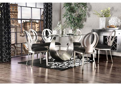 Image for Orla Silver/Black Dining Table w/6 Side Chair