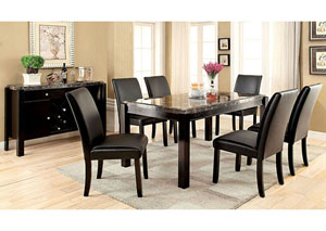 Image for Gladstone l Gray Marble Top Dining Table w/4 Side Chair