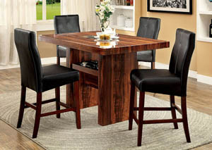 Image for Bonneville II Brown Counter Table w/4 Counter Chair